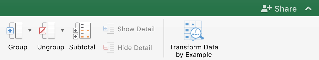 Transform Data by Example Icon